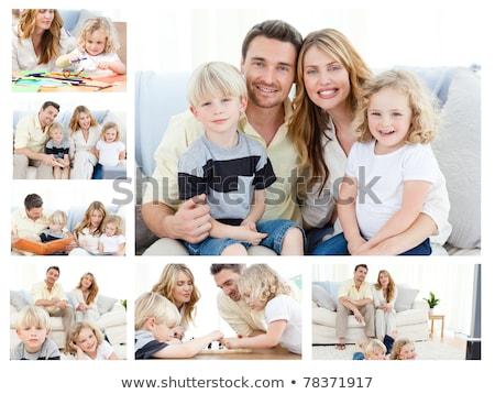 children on sofa collage Stock photo © Paha_L