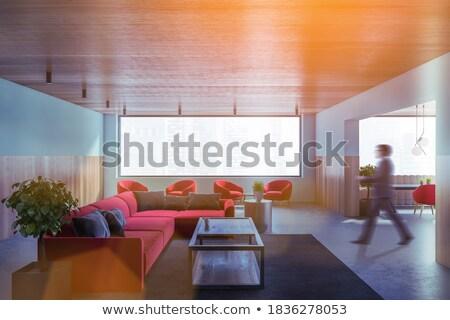 молодые · семьи · кресло · красный · комнату · девушки - Сток-фото © Paha_L