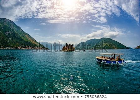 Zeilschip bergen landschap berg middellandse zee Stockfoto © Steffus