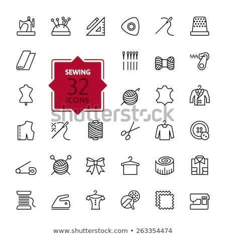Tailoring icons set Stock photo © ayaxmr