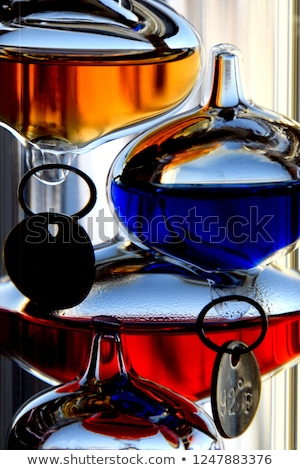 Close up of a glass Galileo thermometer Stock photo © njnightsky