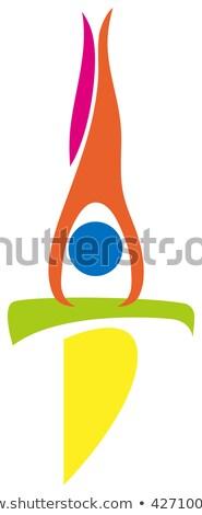 спорт икона баланса луч иллюстрация фон Сток-фото © bluering