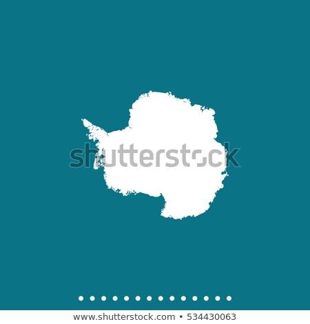 Antarctica SIlhouette Map Stock photo © Bigalbaloo