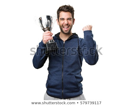 男 トロフィー 実例 幸せ グループ 図面 ストックフォト © bluering