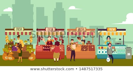 Selling and buying on market place Stock photo © zurijeta