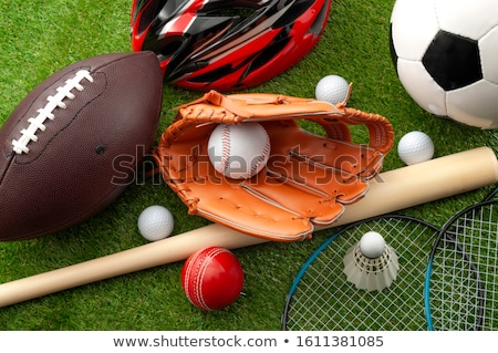 szett · különböző · tenisz · izolált · fehér · labda - stock fotó © bluering