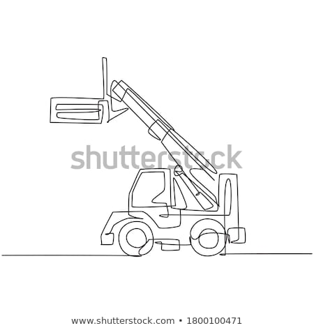 Forklift Truck Mono Line Stock photo © patrimonio
