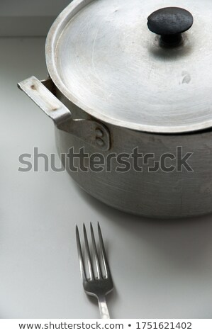 öreg alumínium villa fehér Stock fotó © Digifoodstock