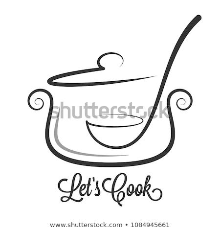 ezüst · kanál · fehér · étel · háttér · fém - stock fotó © srnr