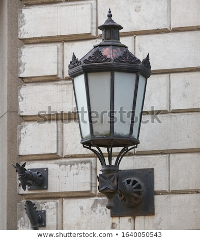 Stock photo: Street light in evening