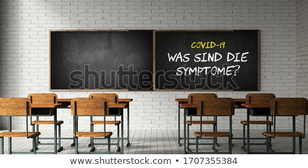 Chalkboard with SARS Concept. 3D Illustration. Stock photo © tashatuvango