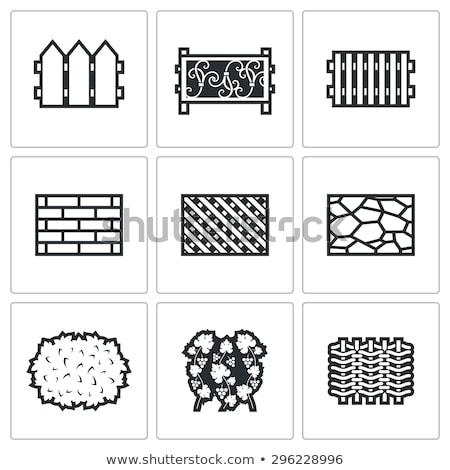 pietra · recinzione · isolato · bianco · texture · costruzione - foto d'archivio © konturvid