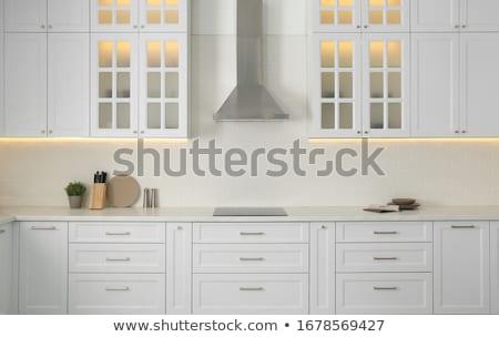 Modern konyha tűzhely részlet közelkép szelektív fókusz Stock fotó © stevanovicigor