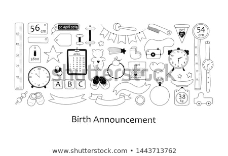 Birth Announcement Card Stock photo © milsiart