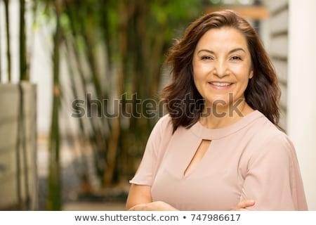 maduro · mulher · isolado · branco · mulheres - foto stock © alexandrenunes