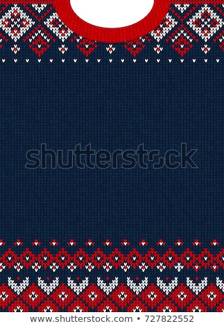Kobieta sweter niebieski wełny zaręczony ręce Zdjęcia stock © compuinfoto