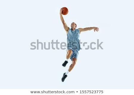 kosárlabdázó · férfi · labda · ujj · vektor · vonal - stock fotó © cienpies