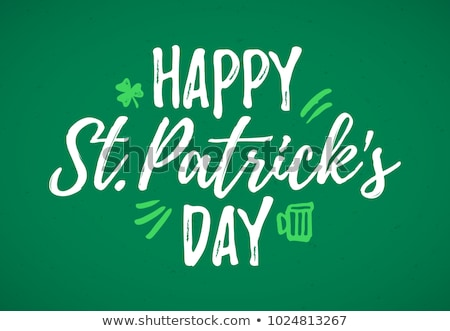 glass of beer and st patricks day decorations Stock photo © dolgachov