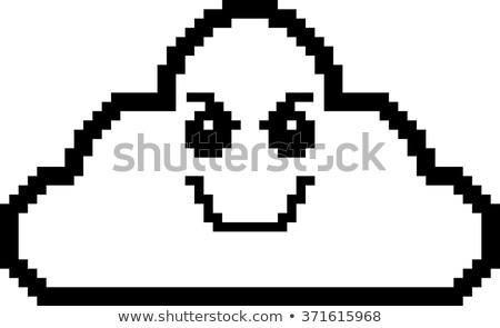 Evil 8-Bit Cartoon Cloud Stock photo © cthoman