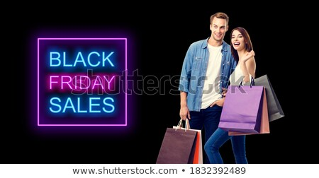 awesome black friday sale banner in dark stock photo © sarts