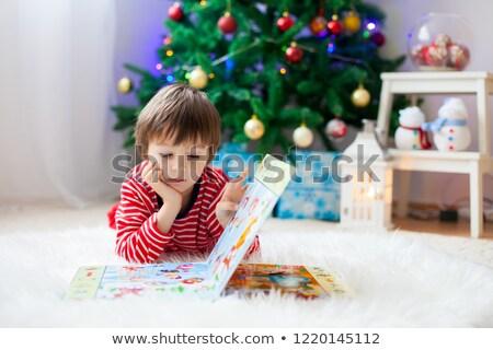 Kinderen genieten boeken weinig lezen Rood Stockfoto © liolle
