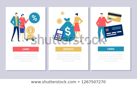 bank operations   flat design style conceptual web banners stock photo © decorwithme