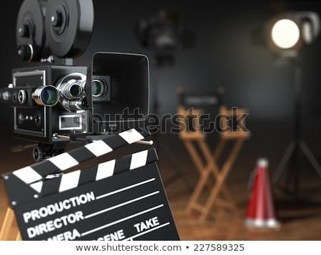 film · 3d · render · háttér · éjszaka · mozi · ötlet - stock fotó © djmilic