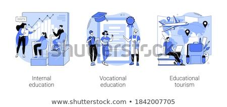 Interno educación laptops aprendizaje profesional Foto stock © RAStudio