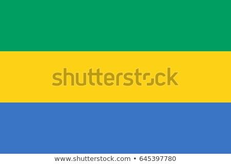 Габон флаг белый большой набор аннотация Сток-фото © butenkow