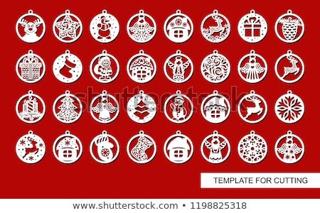 Рождества · вечеринка · Новый · год · приветствие · открытки · искусства - Сток-фото © colematt