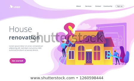 House renovation concept landing page. Stock photo © RAStudio