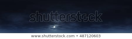 Blue night Sky With White fluffy clouds Stock photo © MarySan