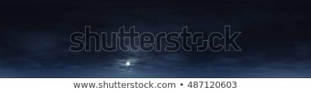 синий ночное небо белый пушистый облака пейзаж Сток-фото © MarySan
