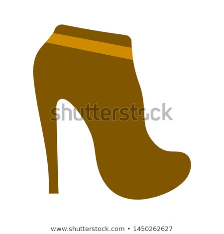 Nő magas sarok ikon szín terv vásárlás Stock fotó © angelp
