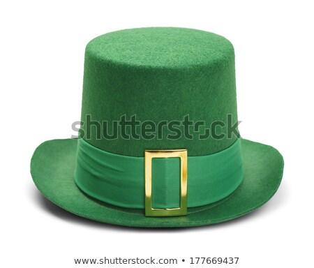 leprechaun hat on green background Stock photo © SArts