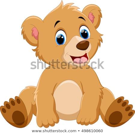 vector line cartoon animal clip art Stock photo © VetraKori