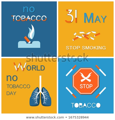 WNTD World no tobacco day celebrated on 31 May Stok fotoğraf © robuart