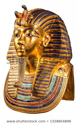 Maska faraon czarny metal posąg historii Zdjęcia stock © mayboro