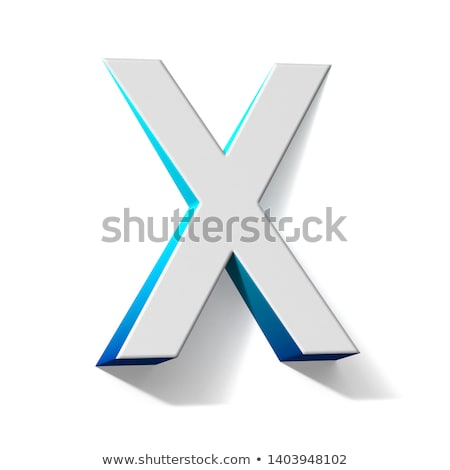青 勾配 手紙 3D 3dのレンダリング 実例 ストックフォト © djmilic