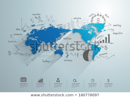 Entreprise commerce infographie stock échange mondial Photo stock © ConceptCafe