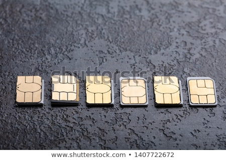 Sim Cards Arranged In A Row Stock photo © AndreyPopov