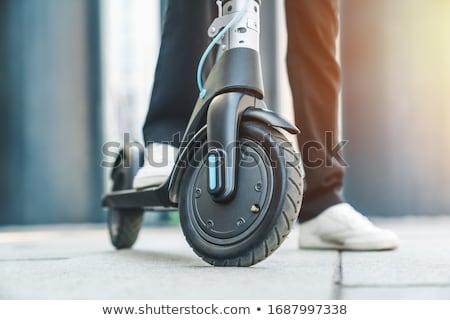 Moped kortárs fiatalember farmer pulóver szürke Stock fotó © pressmaster