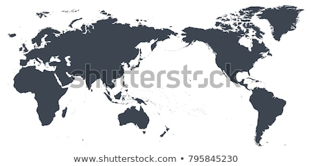 World Map of AUSTRALIA CONTINENT: Australia, New Zealand, Oceania, Pacific Ocean. Geographic chart. Stock photo © Glasaigh