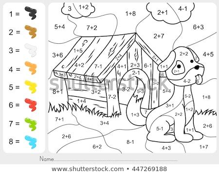 Vowel Letters Cloud Illustration Stock photo © lenm