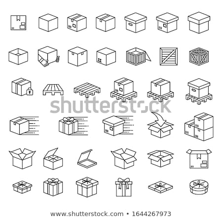Cardboard Package Boxes On Pallet Icon Stock photo © angelp