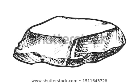 Stone Cobble Boulder Smooth Top Vintage Vector Stock photo © pikepicture