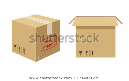 Process of packing gifts boxes in craft paper. Stock photo © furmanphoto