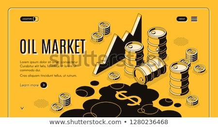Oleju przemysłu benzyny działalności wektora metafora Zdjęcia stock © RAStudio