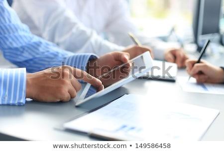 Statistiques affaires données collaboration équipe personnes Photo stock © robuart