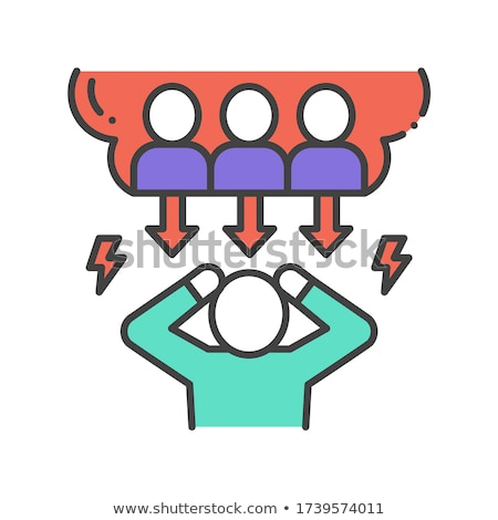bully man icon vector outline illustration Stock photo © pikepicture